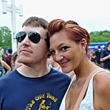 A twosome smiled at the Bunbury Music Festival at Yeatman's Cove Park in Cincinnati, OH.
