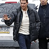 Tom Cruise arrived on the set of One Shot.