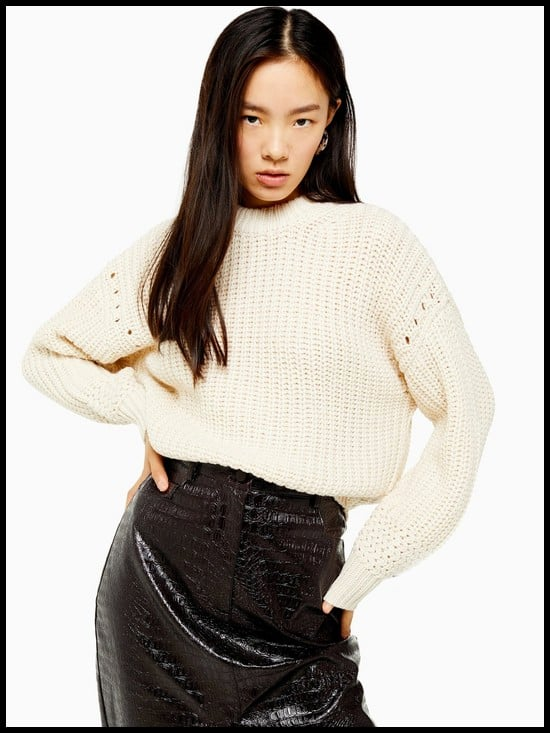 Topshop Recycled Relaxed Fit Knitted Jumper