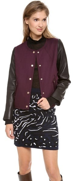 Club Monaco Varsity Jacket
