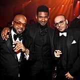 Jermaine Dupri, Usher, and Richie Akiva at Diddy's 50th Birthday Party