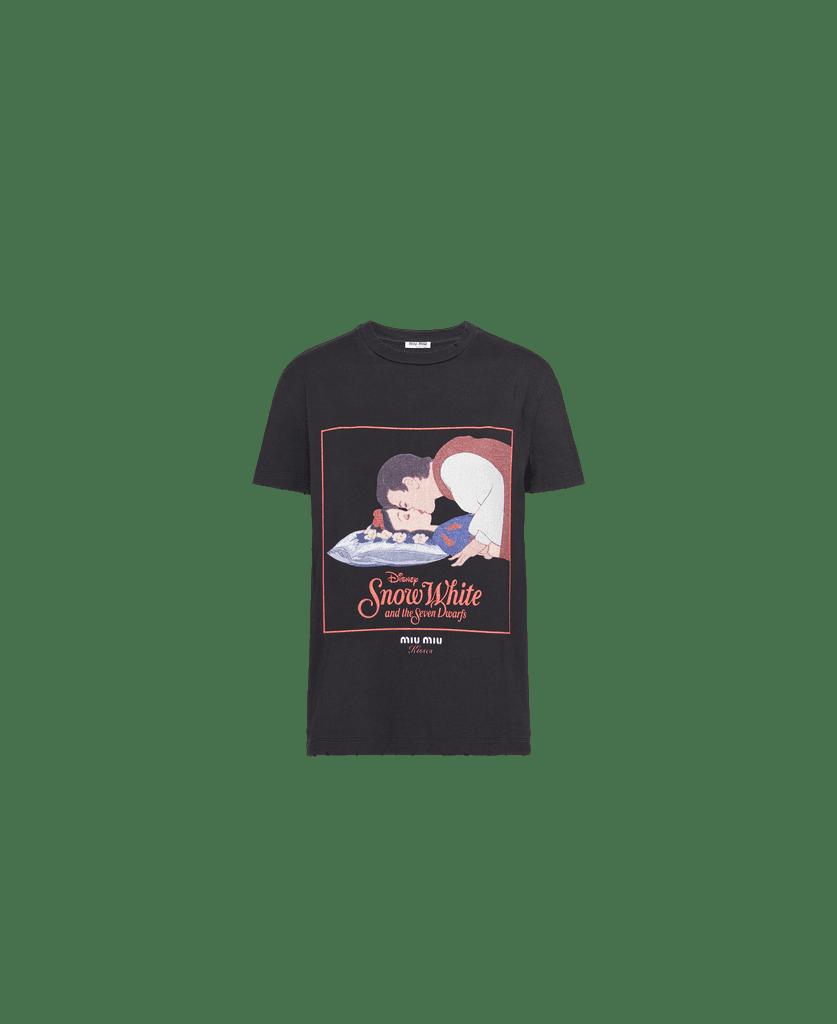 Miu Miu's Kisses Jersey T-Shirt