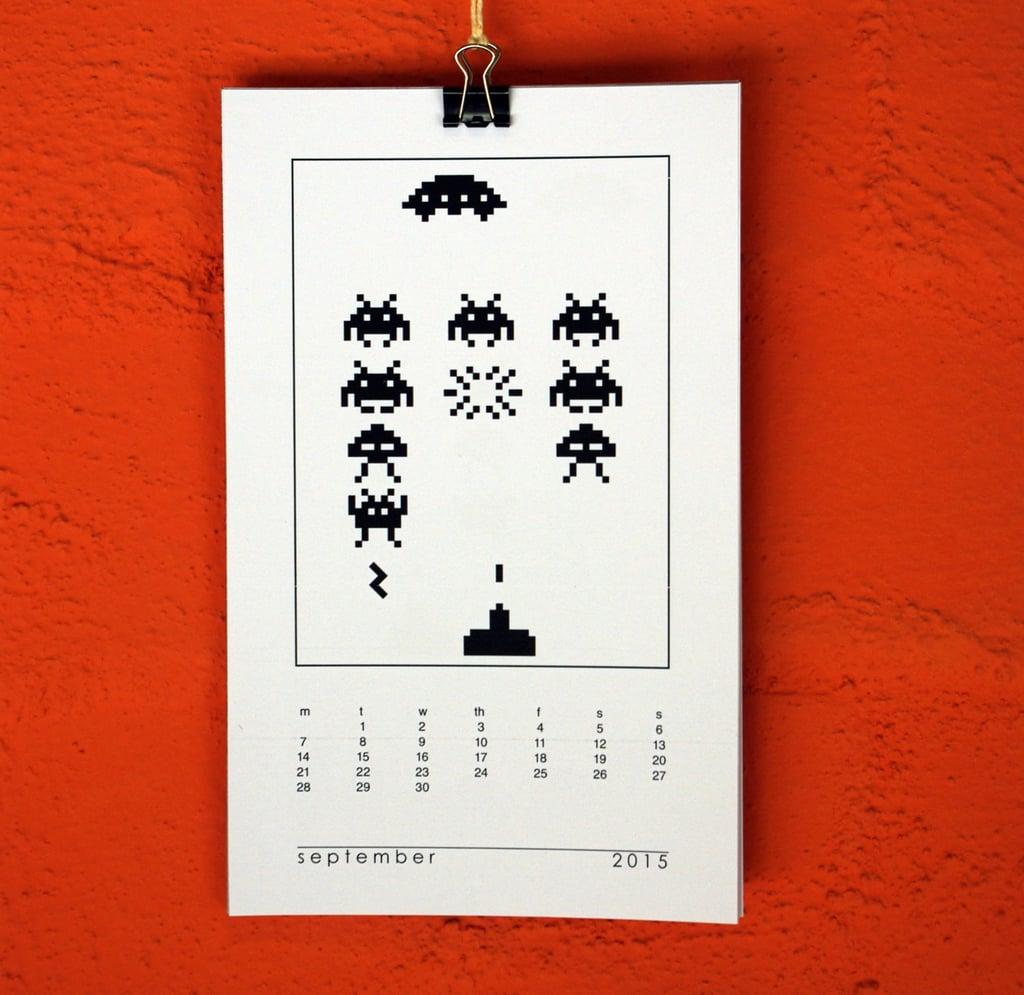 Space Invaders Calendar ($5)