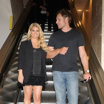 Jessica Simpson and Eric Johnson Pictures at SF Macy's