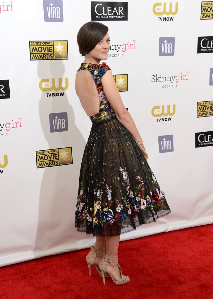 Marion Cotillard's Zuhair Murad dress was sweet from the front, flirty from the back with a revealing cutout.