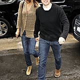 Tom Hits NYC With Katie and Possibly Preps For a Les Grossman Movie