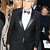George Clooney led the way for Stacy Keibler at the Critics' Choice Movie Awards.