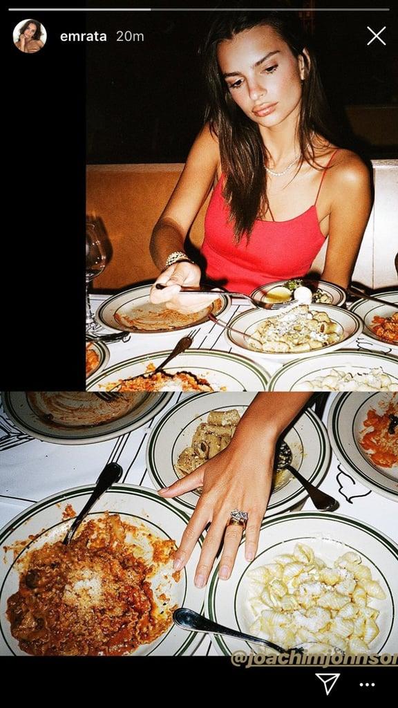 Emily Ratajkowski Got in Her Italian Meal