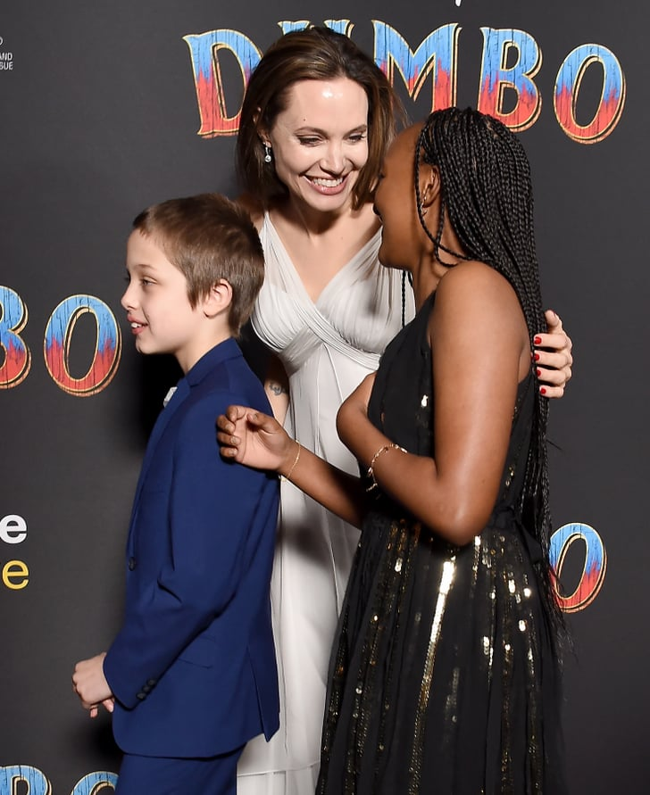 Angelina Jolie and Her Kids at Dumbo Premiere 2019 ...