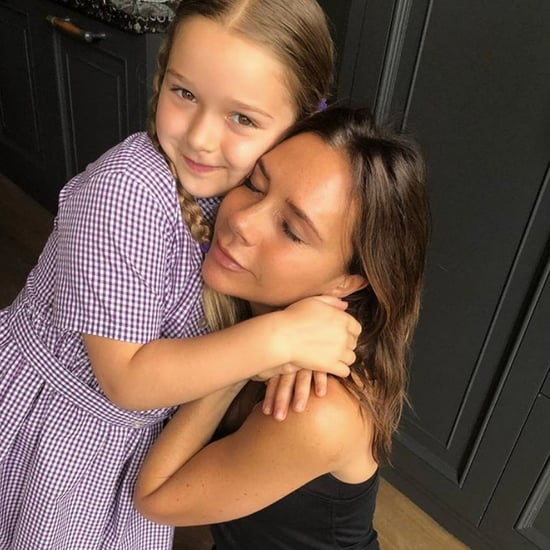 Harper and Victoria Beckham Watch Spice World
