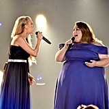 Pictured: Carrie Underwood and Chrissy Metz