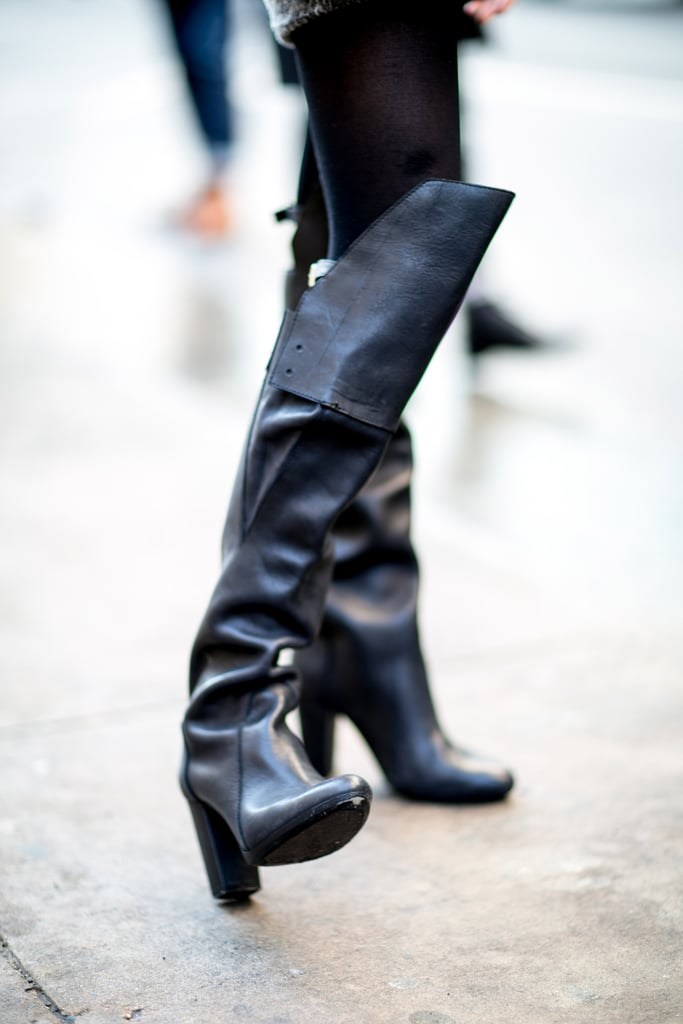 It doesn't get more fierce than a pair of over-the-knee boots.