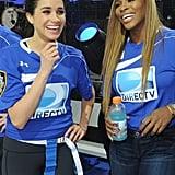 Meghan on Serena