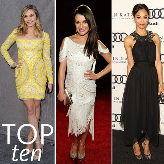 Pictures of the Top Ten Best Dressed Celebrities This Week: Lea Michele, Miley Cyrus, Diane Kruger, Zoe Saldana and More!