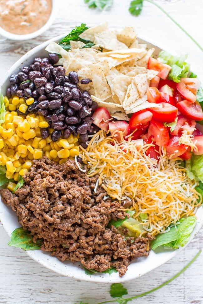 Loaded Beef Taco Salad