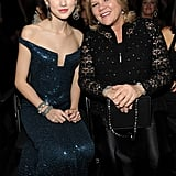 In January 2010, Taylor posed for a picture with her mom inside the Grammys.