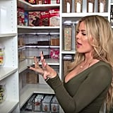 Her snack closet is a dream come true, of course, where she places everything in its own labeled container.