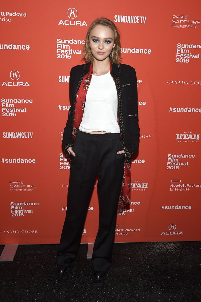 Lily-Rose Depp Channels Her Dad, Johnny, at the Sundance Film Festival