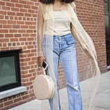 Solange Knowles carrying a Mansur Gavriel bag at New York Fashion Week Spring 2017