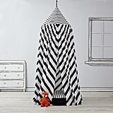 For 1-Year-Olds: The Land of Nod Black and White Playhouse Canopy