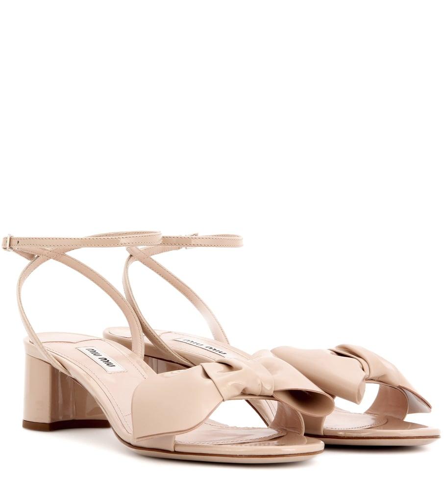 Miu Miu Leather Sandals