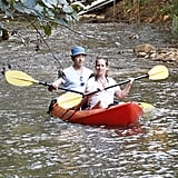 Robert Downey Jr. and his pregnant wife, Susan, kayaking in Hawaii.