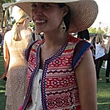 A floppy straw hat in a natural color is a must-have piece to protect your face from the extreme desert rays.