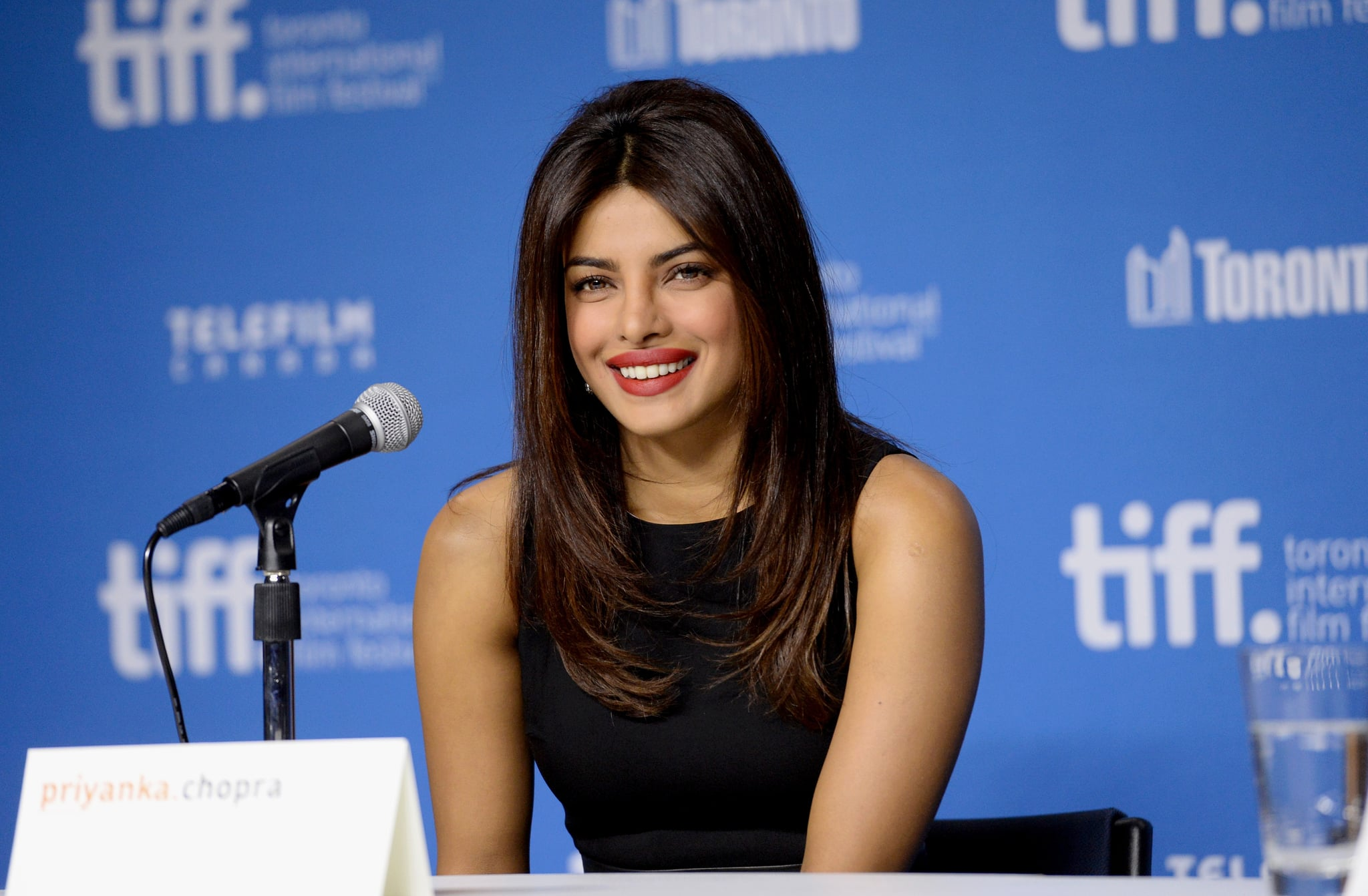 TORONTO, ON - SEPTEMBER 04:  Actress Priyanka Chopra speaks onstage at the