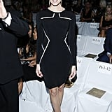 Allison Williams wore a sleek ensemble for the DVF show on Sunday.