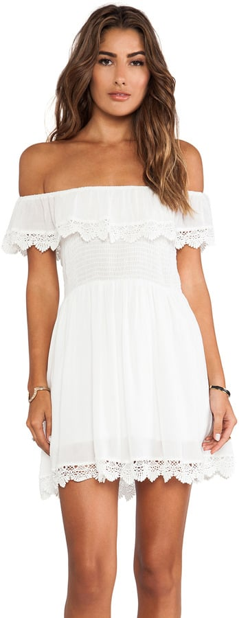 Raga White Lace Off-the-Shoulder Dress