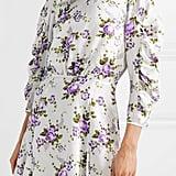 Les Rêveries' Ruched Floral-Print Silk-Charmeuse Mini Dress ($715)