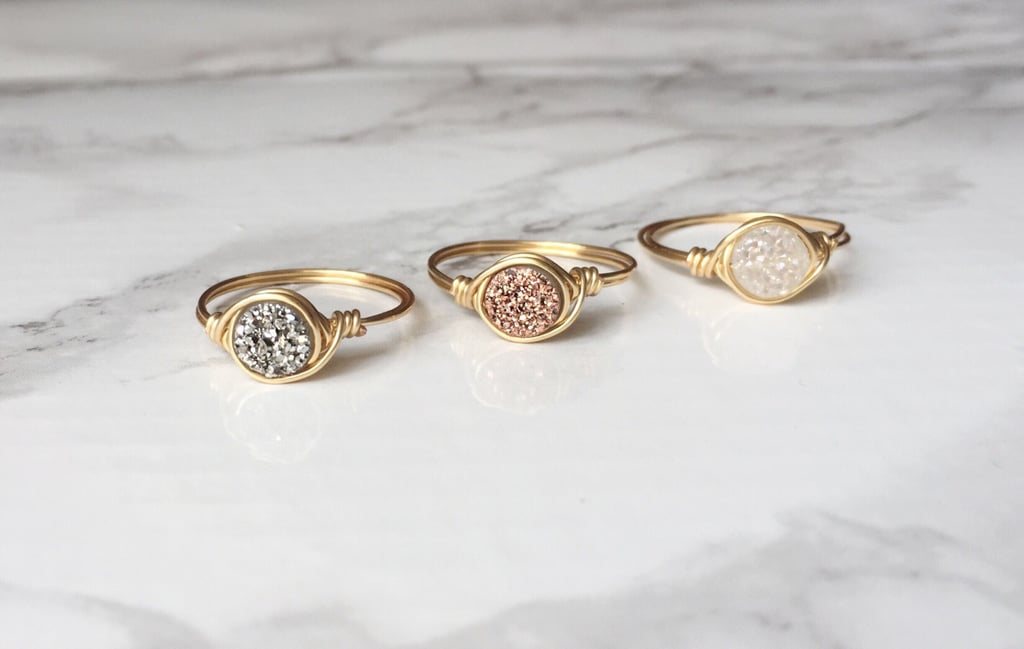 Minimalist Druzy Ring