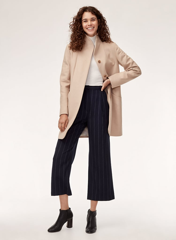 Aritzia Wilfred Cocoon Coat in Myth ($328)