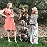 These two sisters had a bit of fun with their maternity photo, with a hilarious cameo from their nonpregnant sister and her glass of wine.      Related:                                                                                                           50+  Necessary Gifts For Moms Who Love Wine