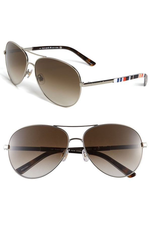 Kate Spade New York Metal Aviator Sunglasses ($128)