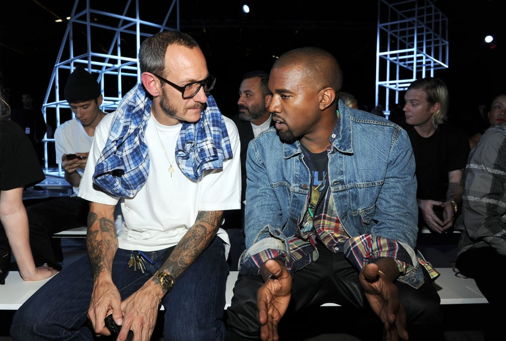 Kanye West and Terry Richardson chatted in their front-row seats at the Alexander Wang runway show on Saturday.
