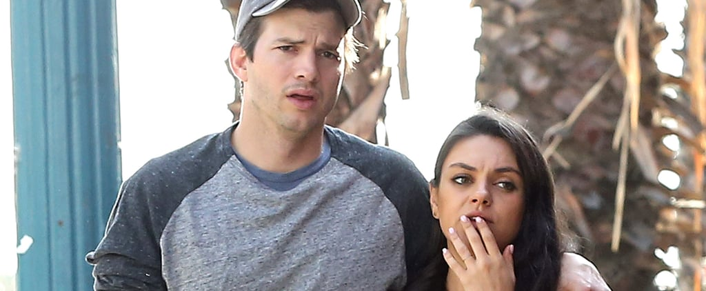 Ashton Kutcher and Mila Kunis Wrap Their Arms Around Each Other During a Sunny Stroll