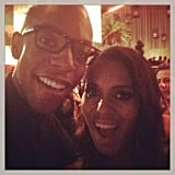 Kerry Washington snapped a selfie at a Golden Globes afterparty. Source: Instagram user kerrywashington