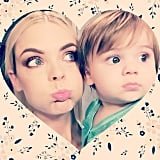 Jamie King got cheeky with her son, James. Source: Instagram user jaime_king