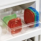 mDesign Food Storage Container Lid Holder