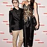 Christian Siriano and Anna Schilling at a Parsons benefit honoring Bonnie Brooks and Proenza Schouler in New York. Source: Matteo Prandoni/BFAnyc.com