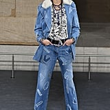 Kaia Gerber Walked in a Double Denim Look