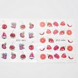 SilverPointCrafts 2pcs Water Berry Fruit Nail Stickers