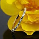 Baguette Diamond Wedding Ring in 14k White Gold ($690)
