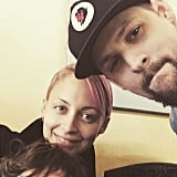 """Joel Madden wished Nicole Richie — mom to Harlow and Sparrow — a happy Mother's Day, saying, """"Happy Mothers Day to my best friend and partner in rhyme. Best wife, mother and friend a father and his kids could ever ask for ❤️❤️❤️"""""""