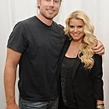 Jessica Simpson and Eric Johnson at Macy's.