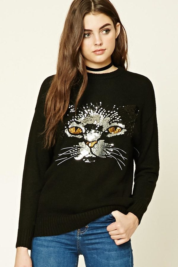 Sequin Cat Sweater ($25)