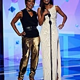 Gabrielle Union and Angela Bassett presented at the BET Awards.