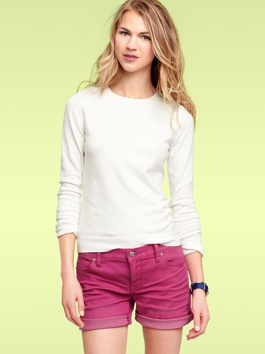 Pair this pretty sweater with a bold, colorful statement necklace.  Gap Crewneck Pullover Sweater ($40)