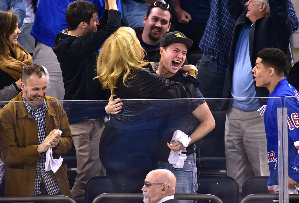 Ansel Elgort Is Even Cuter While Losing His Sh*t Over Hockey